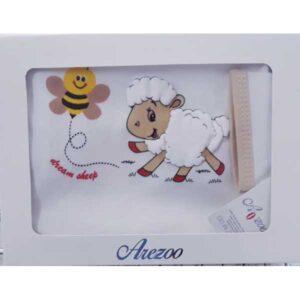 ست 5 تکه لباس نوزاد آرزو طرح گوسفند