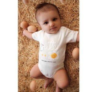 ست 5 تکه لباس نوزاد آرین طرح تخم مرغ