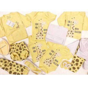 ست 20 تکه لباس نوزاد آرین طرح زرافه