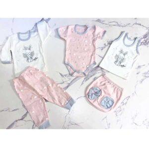 ست 5 تکه لباس نوزاد آرین طرح انجل