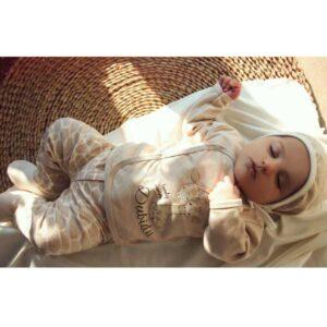 ست 5 تکه لباس نوزاد آرین طرح زرافه مامی